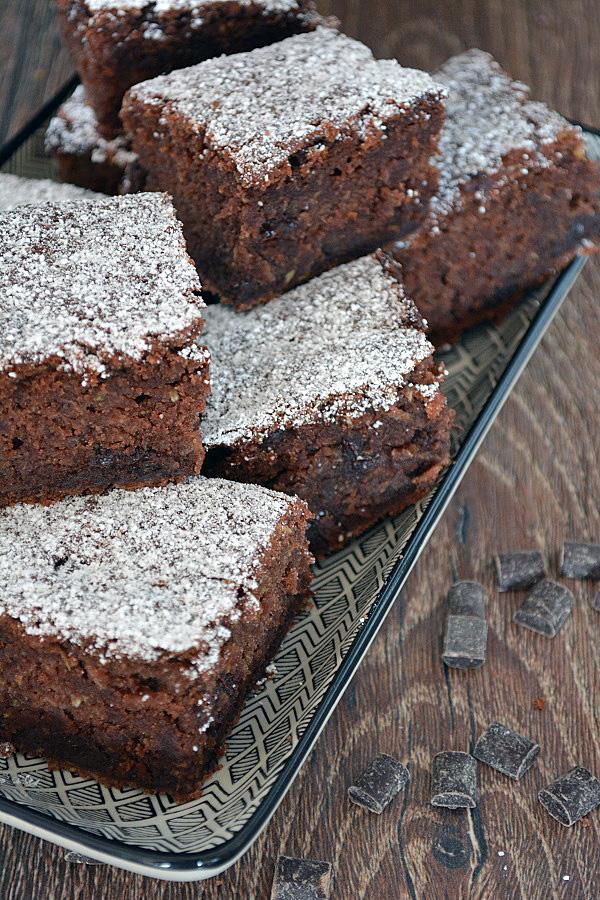 Zucchini Schokoladen Brownie 3-2
