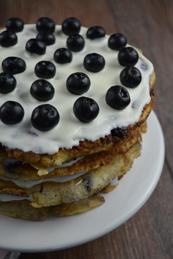 Blaubeer Pfannkuchen Torte 2