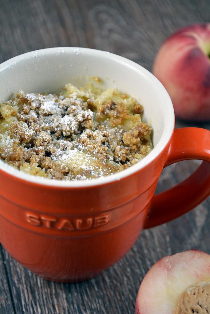 Pfirsich Streusel Tassenkuchen 3-2