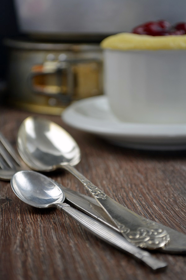 Vanille Tassenkuchen mit Kirschgrütze 2-2