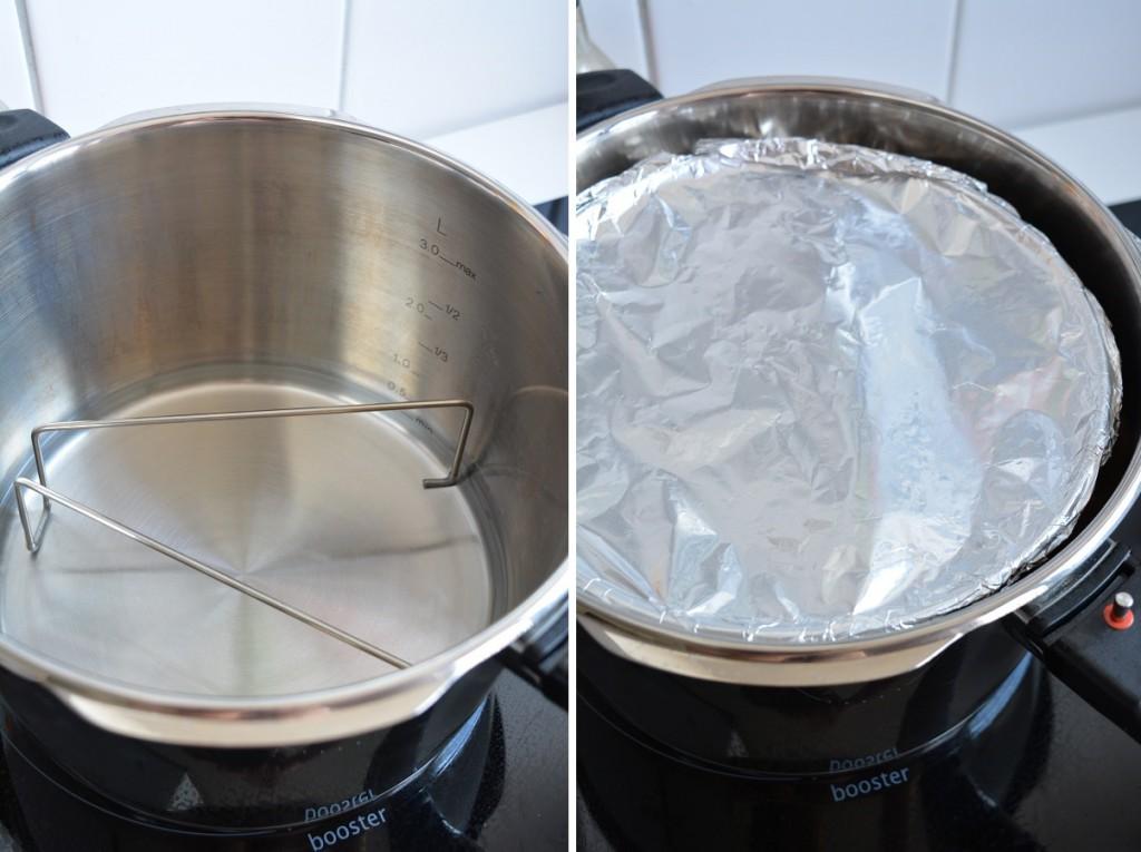 Käsekuchen Vorbereitungen Schnellkochtopf Fissler