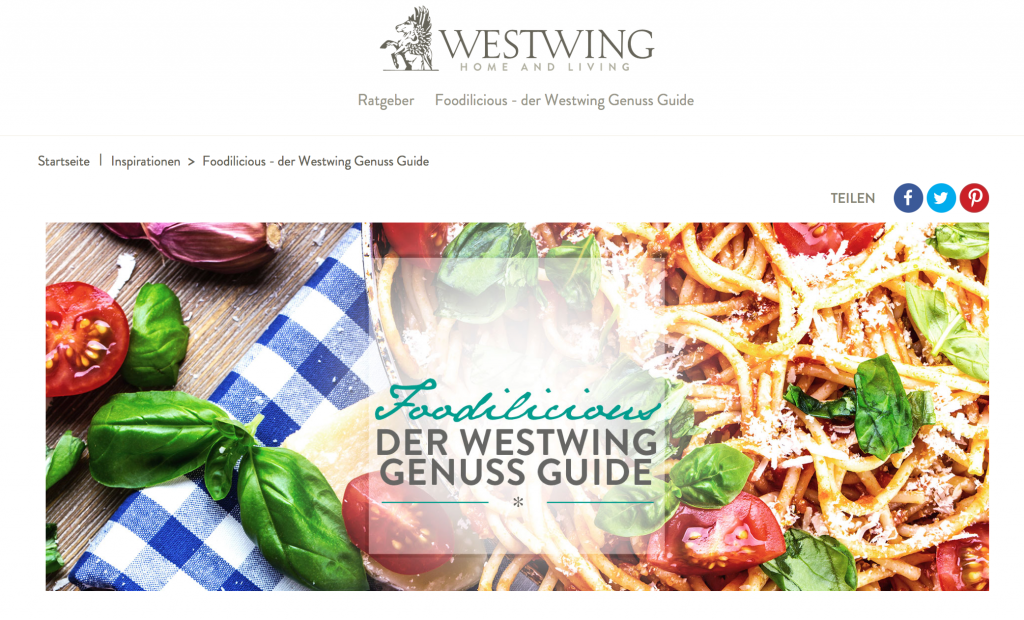 Westwing Genuss Guide