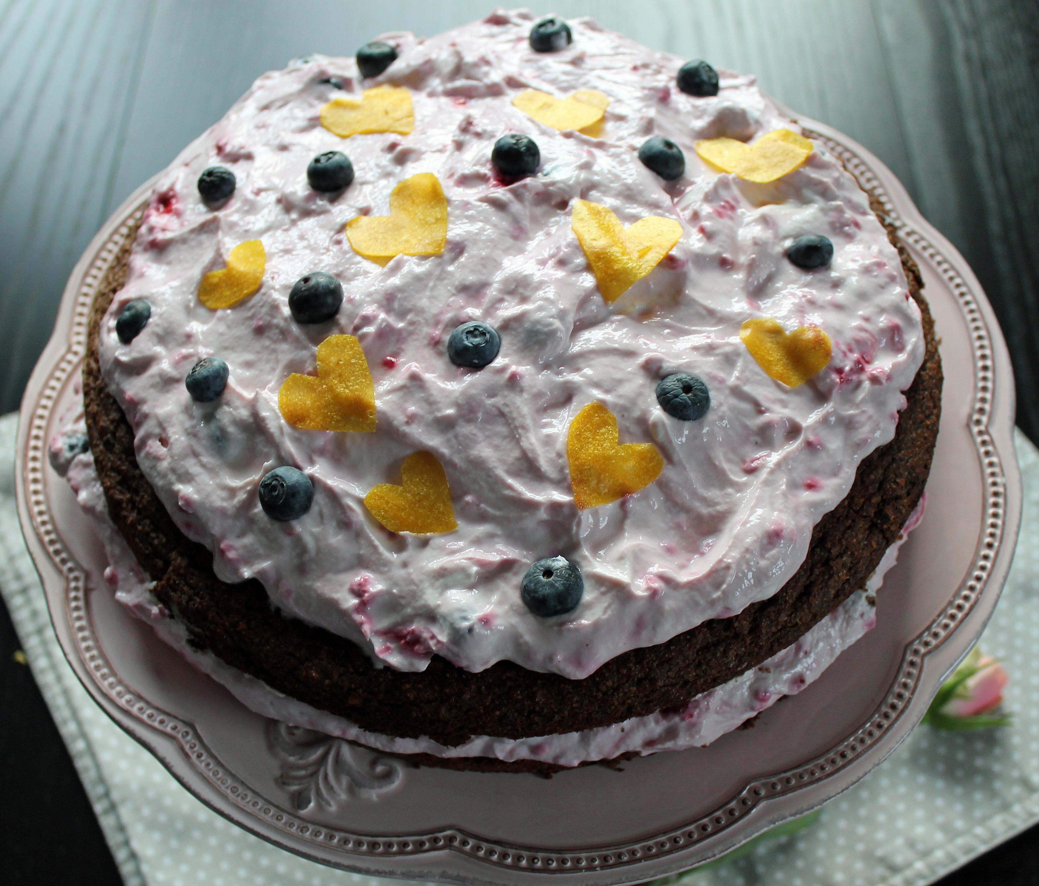 Schoko Auberginen Kuchen Mit Quarkcreme