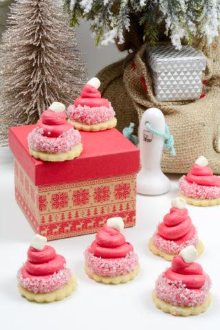Santa Hat Cookies - Kleine Nikolaus Mützchen