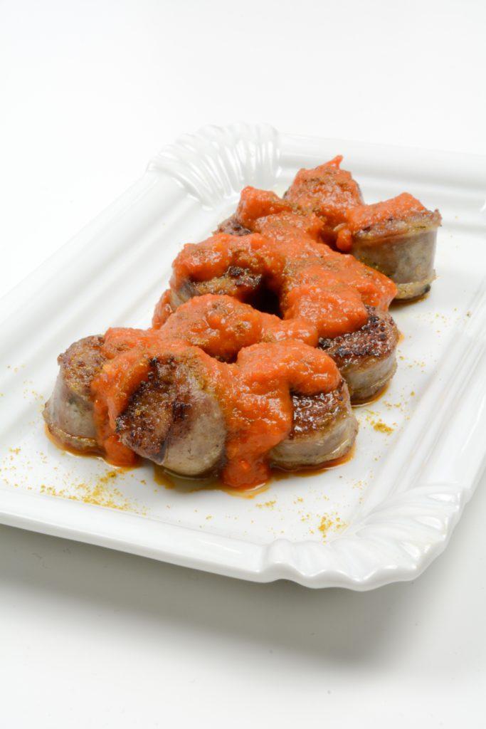 Currywurst mit Paprika Sauce