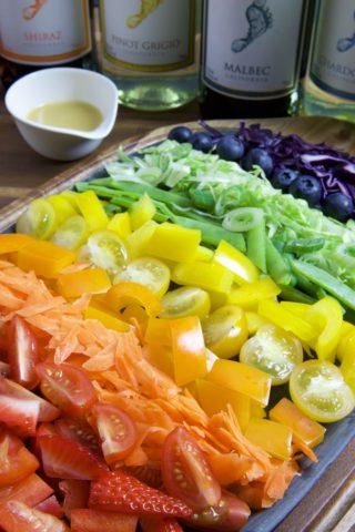 Regenbogen Salat