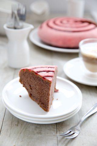 Rotweinkuchen in der 3D Form gebacken