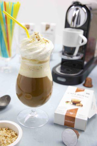 Haselnuss Eiskaffee