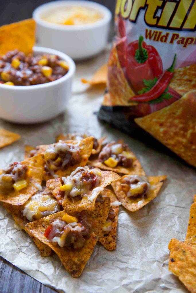 Chio Tortilla Chips mit Salsa con carne