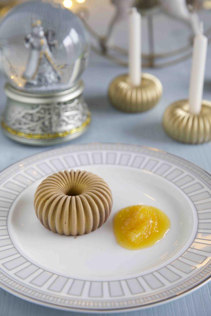 Blogging under the Mistletoe – Schoko Panna Cotta mit karamellisierten Orangen