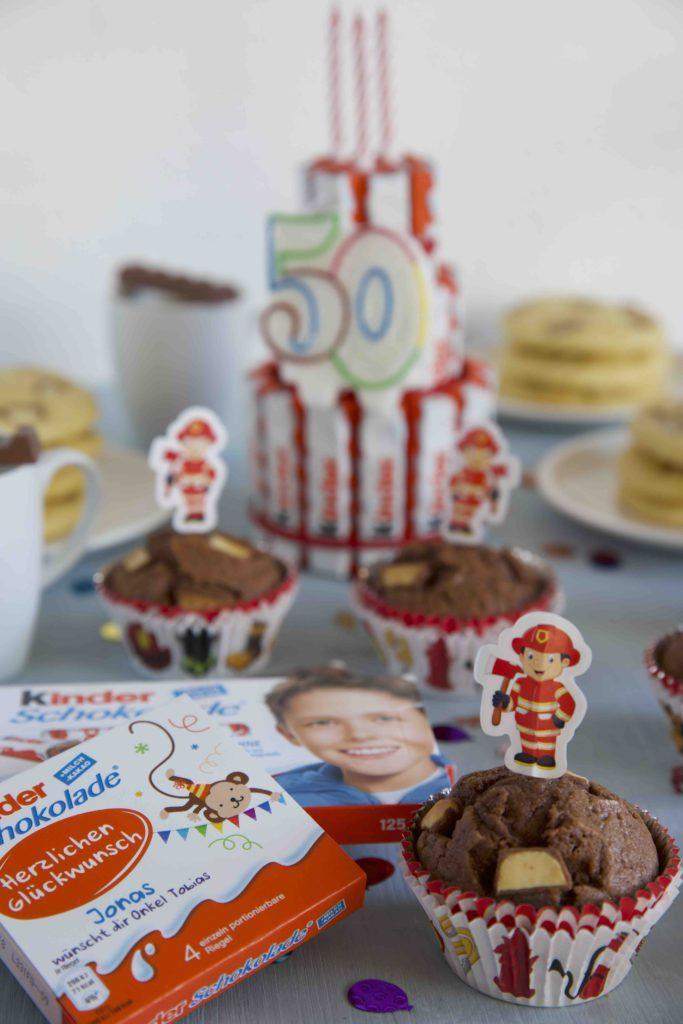 Muffins mit Ferrero kinder Schokolade