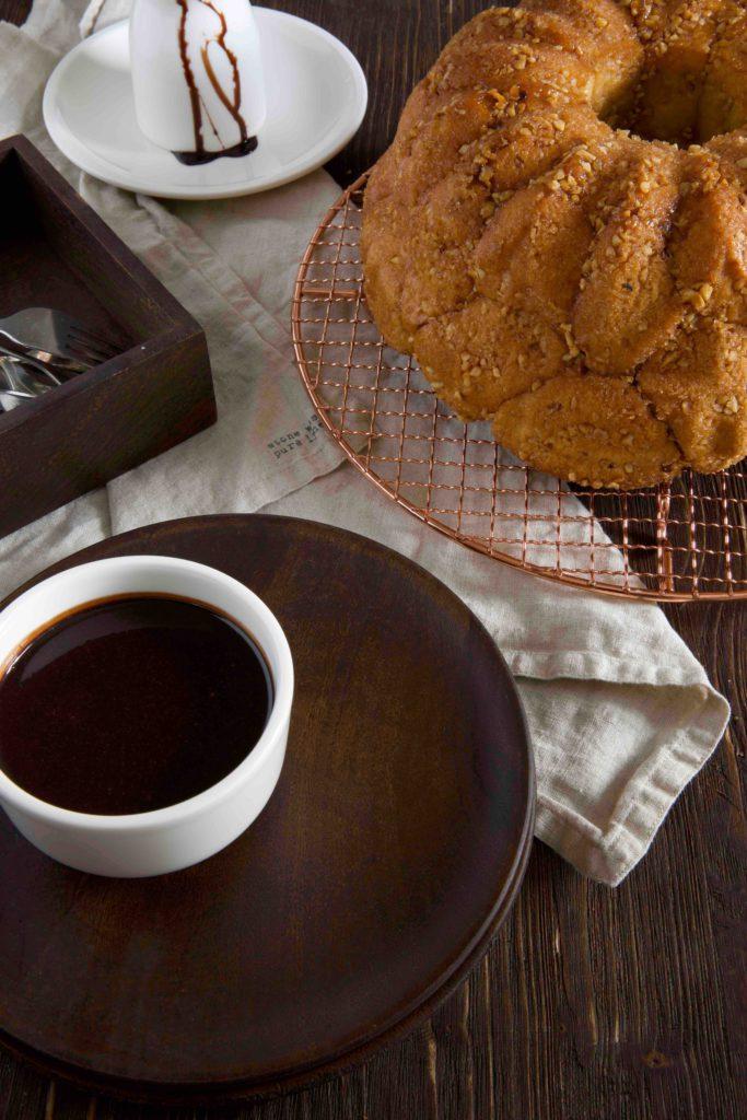 Bubble Bread mit Schokoladensoße