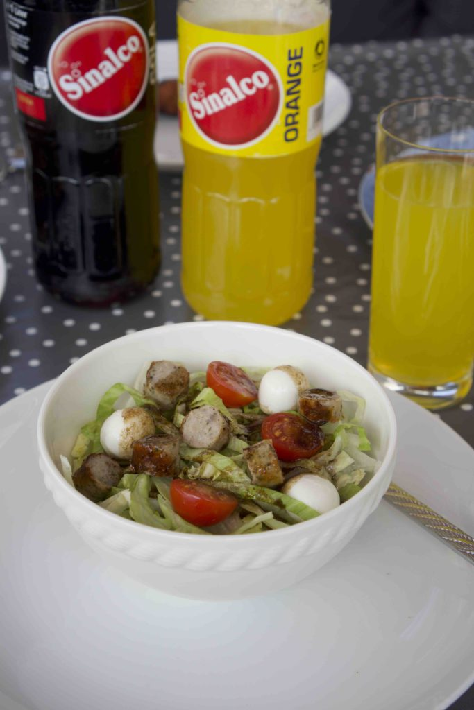 Bratwurst Salat mit Sinalco