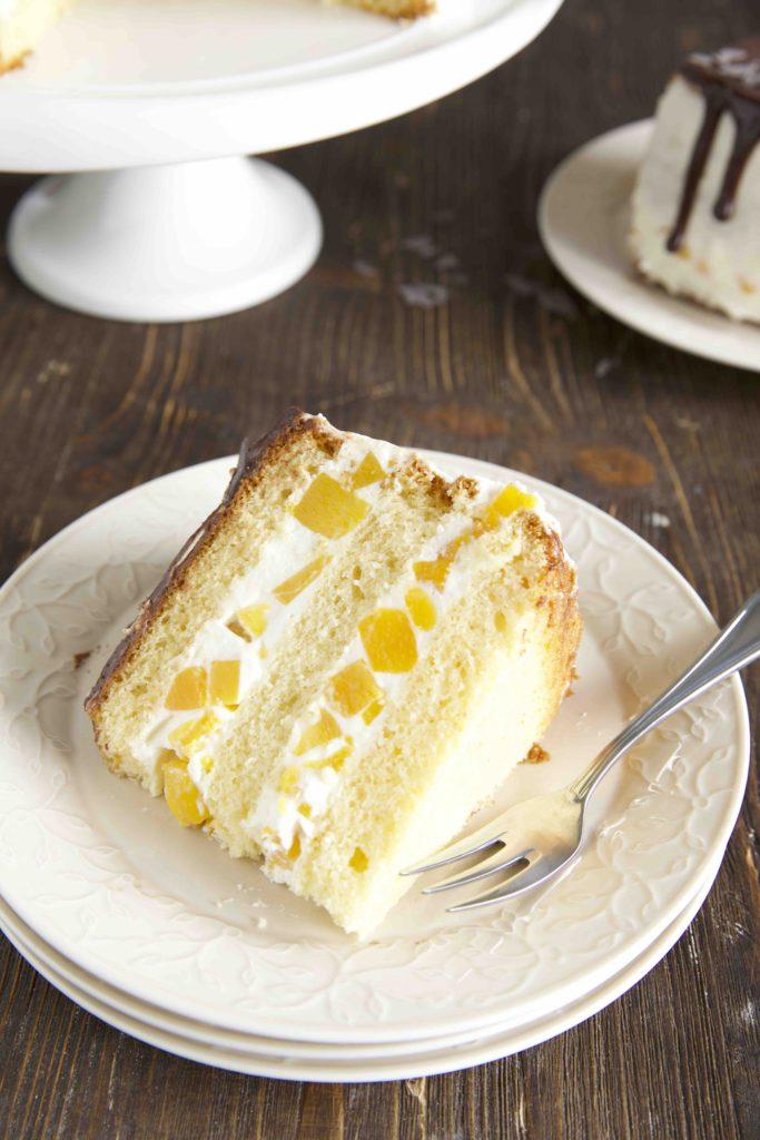 Orangina-Pfirsich-Torte Drip Cake