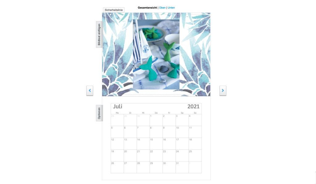 Vistaprint Kalender Design